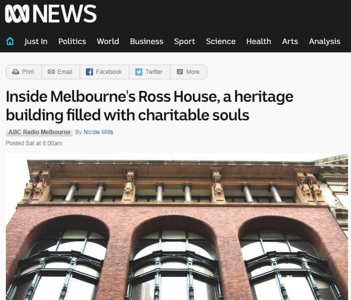 Ross House – ABC News feature